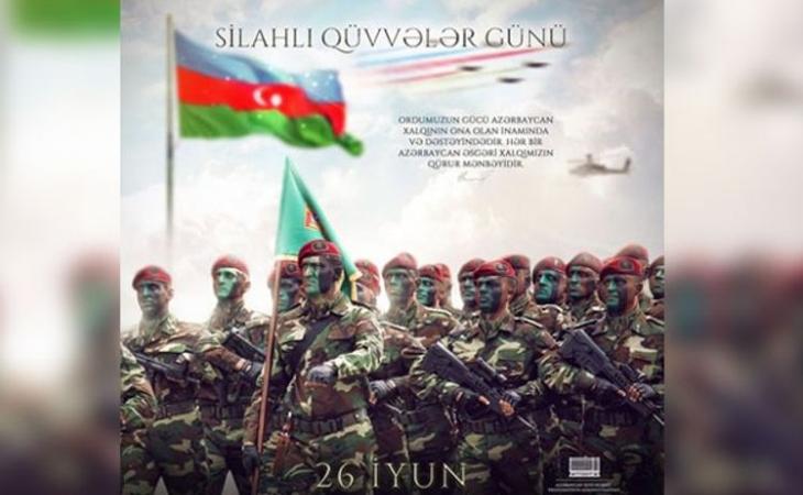 Azərbaycan Prezidenti Silahlı Qüvvələr günü münasibətilə paylaşım edib