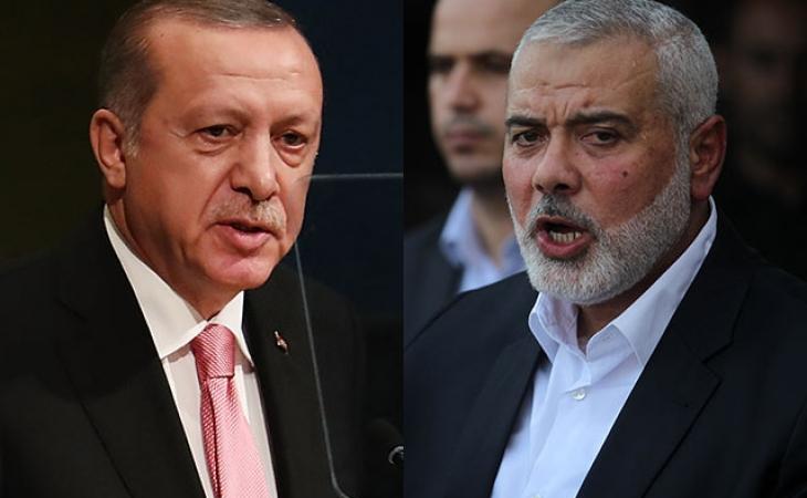 İstanbulda Türkiyə Prezidenti ilə Həmas Siyasi Bürosunun rəhbəri arasında görüş keçirilib