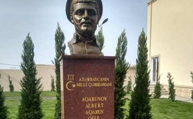 Bakıda, Albert Aqarunovun adına olan məktəb yenidənqurma işlərindən sonra açılıb