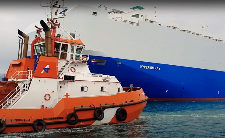 İsrail yük gəmisi fars körfəzində raket hücumuna məruz qalıb