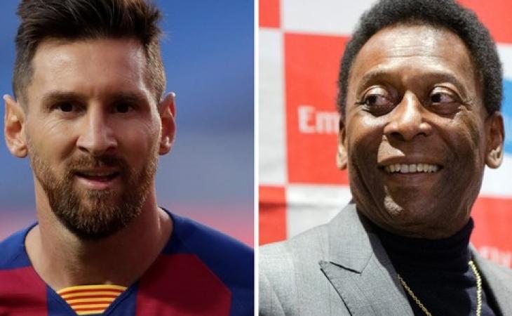 Messi vurduğu qollarla Pelenin rekordunu təkrarlayıb