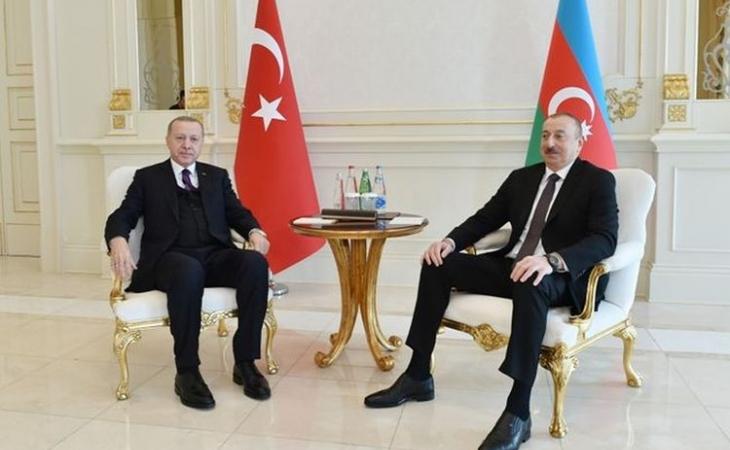 Azərbaycan və Türkiyə prezidentlərinin təkbətək görüşü olub
